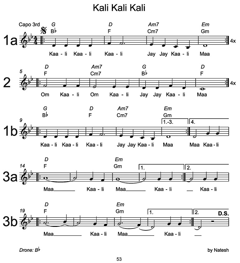 Kali Kali Kali Sheet Music