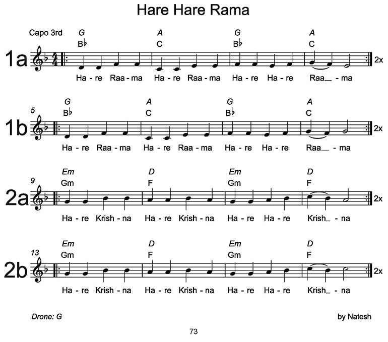 Hare Hare Rama Sheet Music
