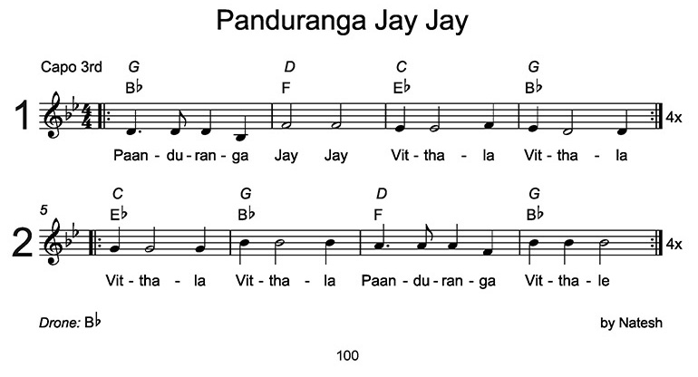 Panduranga Jay Jay Sheet Music